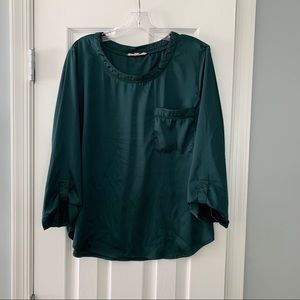 Stitch Fix 41 Hawthorn dark green long sleeve top